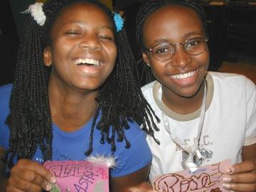 Rose & Asha: Then
