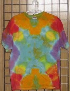 tye-dye tshirt rainbow