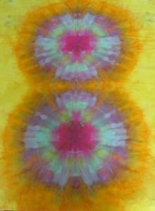 yellow circle fabric